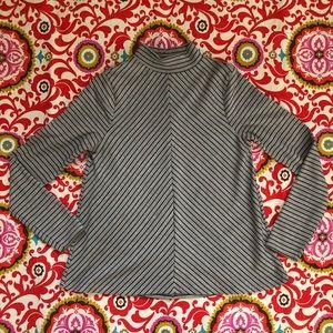 Zara Mod Knit Mock Neck Swing Turtleneck S